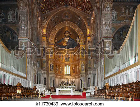 Stock Photograph of The Christ Pantokrator. Cathedral.