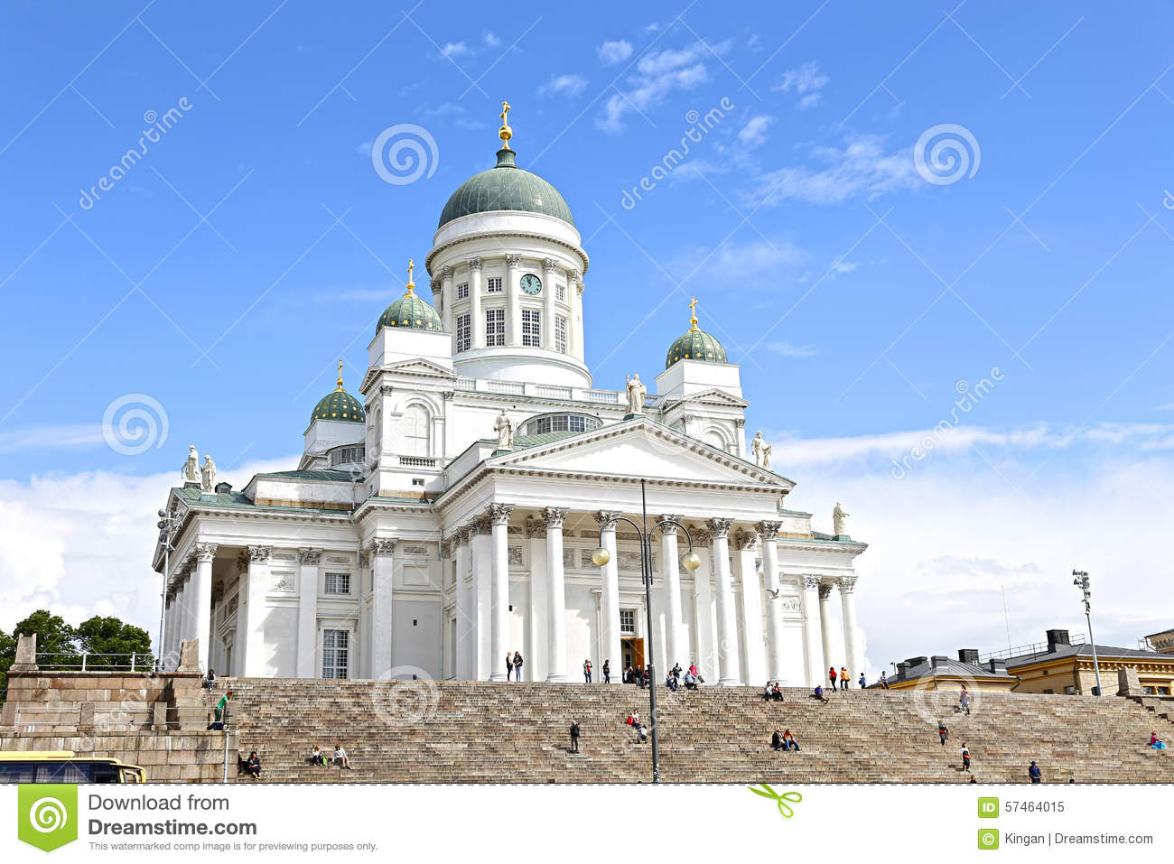 Cathedral Of St. Nicholas (Cathedral Basilica) In Helsinki.