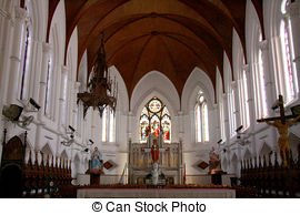 Picture of San Thome Basilica Cathedral / Church in Chennai.