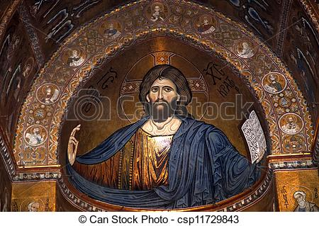 Stock Photo of The Christ Pantokrator. Cathedral.