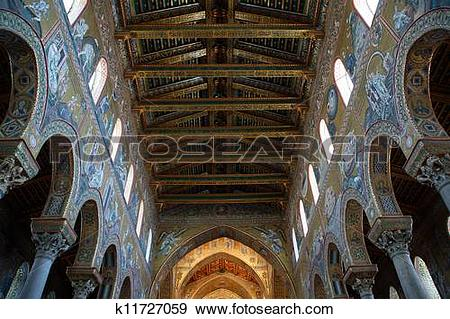 Stock Photograph of The interior Cathedral.