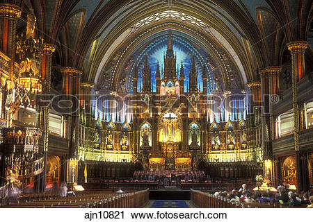 Stock Photography of Canada, Quebec, Montreal, cathedral, The.