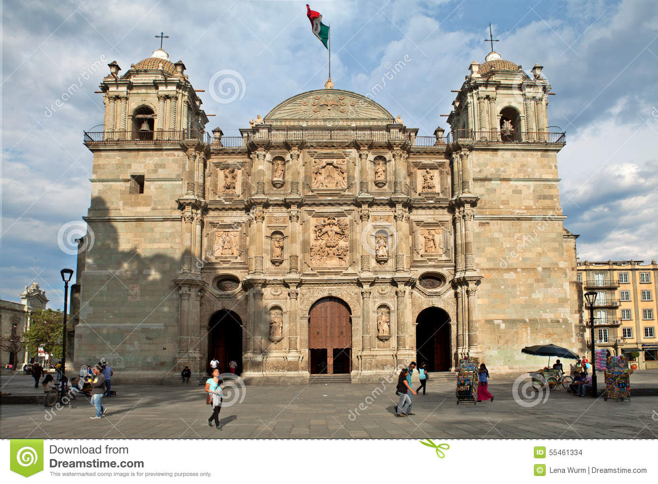 Cathedral Of Our Lady Of The Assumption, Oaxaca (Mexico) Editorial.