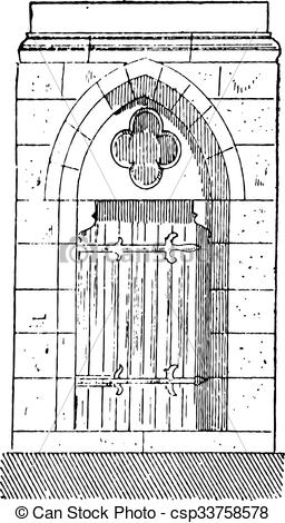Vectors Illustration of The gate of Cathedral of Our Lady of.