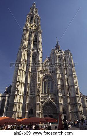 Stock Photograph of Belgium, Antwerp, Antwerpen, Europe, Cathedral.