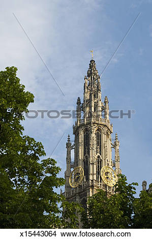 Stock Photo of Cathedral of Our Lady, Belgium, Antwerp x15443064.