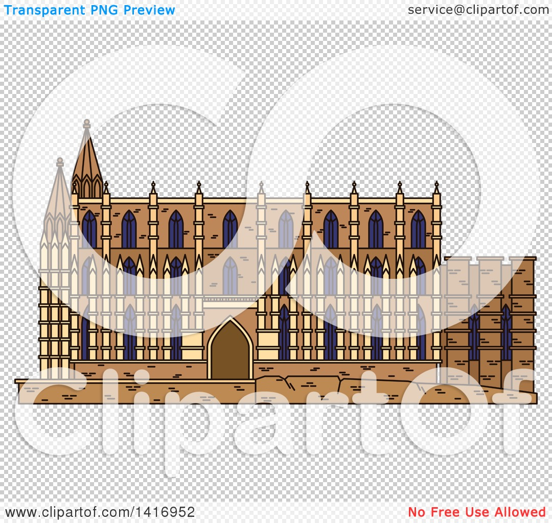Clipart of a Sketched Spain Landmark, Cathedral of Santa Maria in.