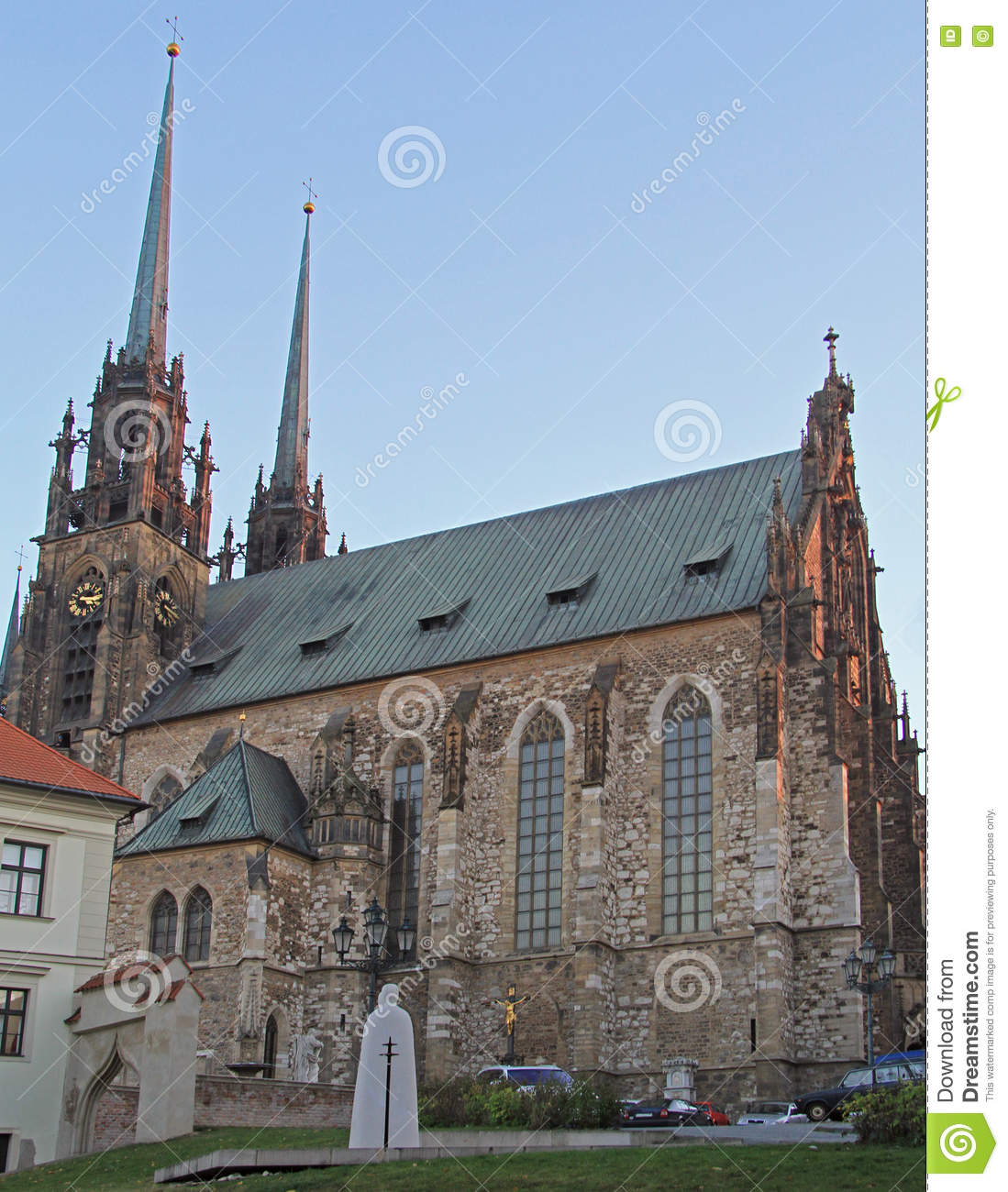 Cathedral Of St. Peter And Paul In Brno Stock Photo.