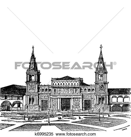Clipart of Cathedral of Guayaquil or Cathedral of Saint Peter.
