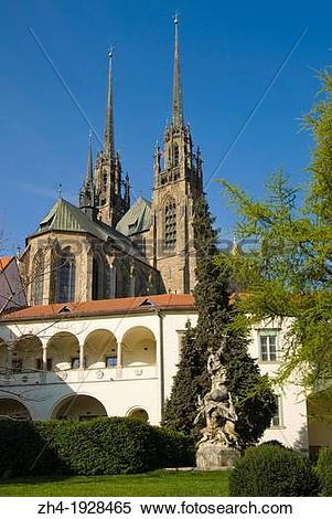 Stock Image of Brno, South Moravia, Czech Republic. Cathedral of.
