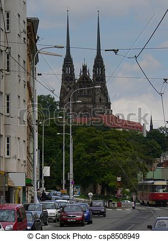 Stock Photographs of Brno, Cathedral Of St. Peter And Paul (Petrov.