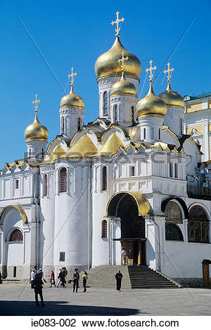 Stock Photo of Cathedral of the annunciation moscow kremlin ie083.