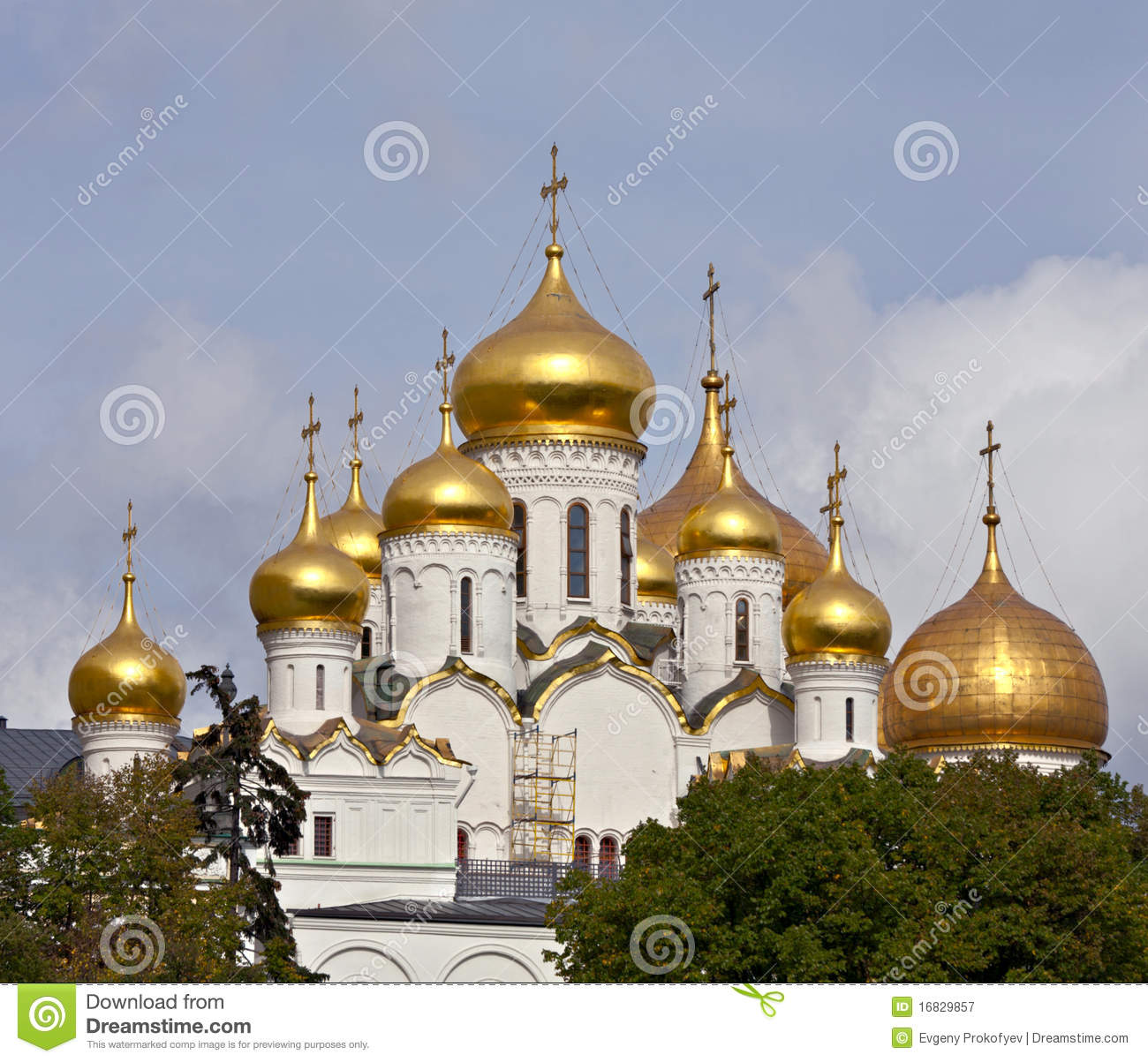 Cathedral Of The Annunciation, Moscow Royalty Free Stock.
