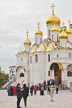 The Cathedral Of The Annunciation In Kremlin, Moscow, Russia.