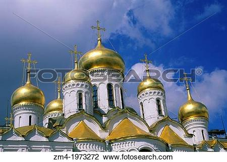 Stock Photo of RUSSIA, MOSCOW, INSIDE KREMLIN, CATHEDRAL OF THE.