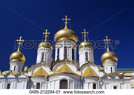 Stock Photography of Russia, Moscow, Kremlin, Annunciation.