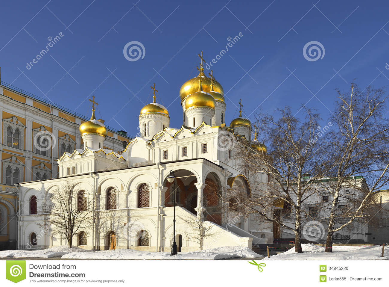 Cathedral Of The Annunciation, Moscow, Russia Stock Photo.