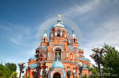 Cathedral Of The Kazan Icon Of The Mother Of God In Irkutsk City.