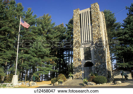 Picture of bell tower, Rindge, New Hampshire, NH, Memorial Bell.