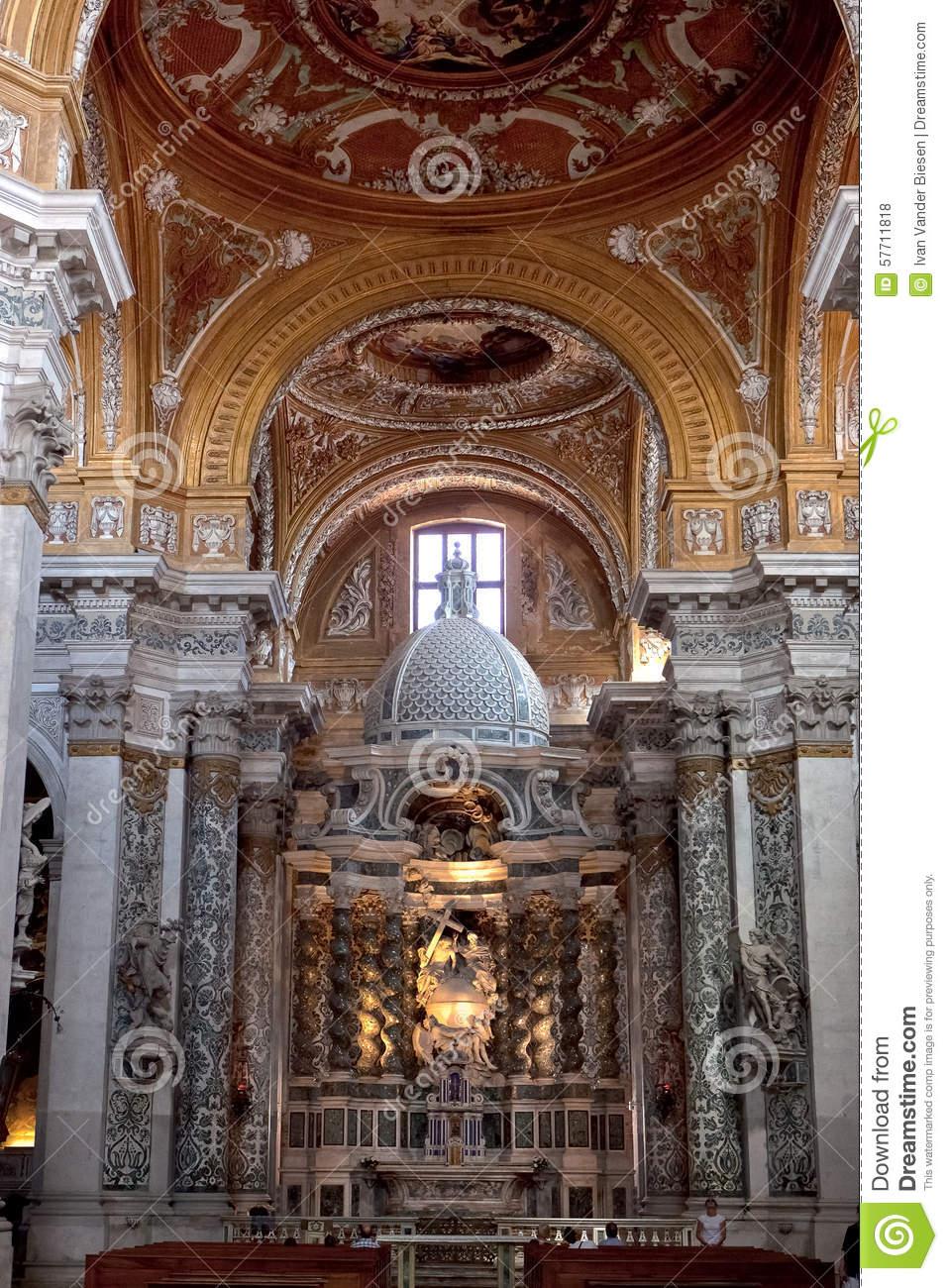 Altar Santa Maria Assunta, I Gesuiti, Venice, Italy Stock Photo.