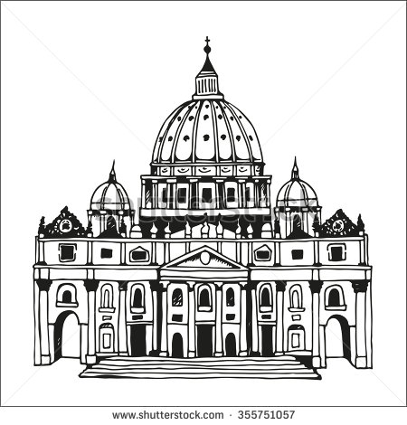 Vatican Cathedral St Peter Stock Vectors & Vector Clip Art.