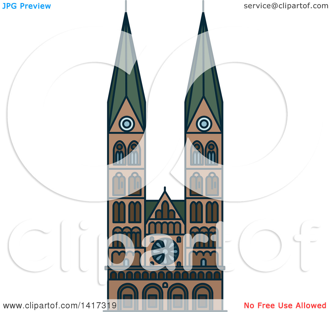 Clipart of a German Landmark, St Peter Cathedral.