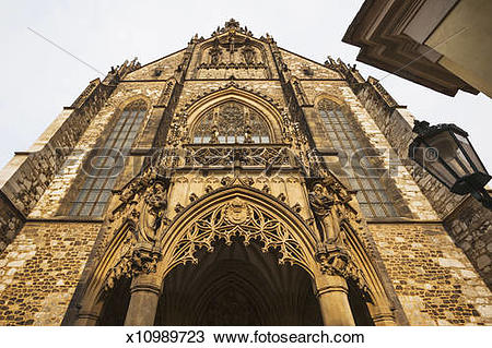 Stock Photo of Cathedral of St. Peter and St. Paul, the facade.