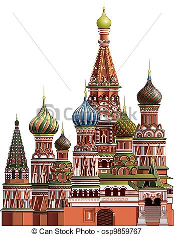 Stock Illustrations of St. Basil's Cathedral near the Kremlin in.