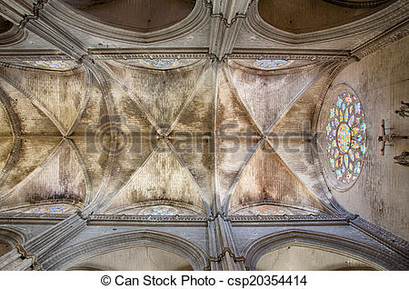 Clipart of Sevilla: the roof of the cathedral.