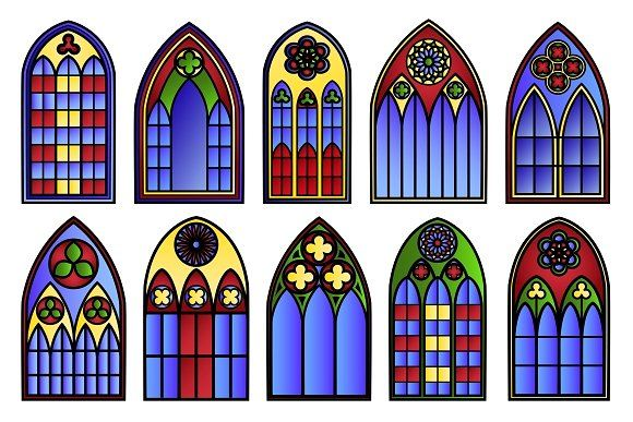 Win clipart cathedral window, Win cathedral window.