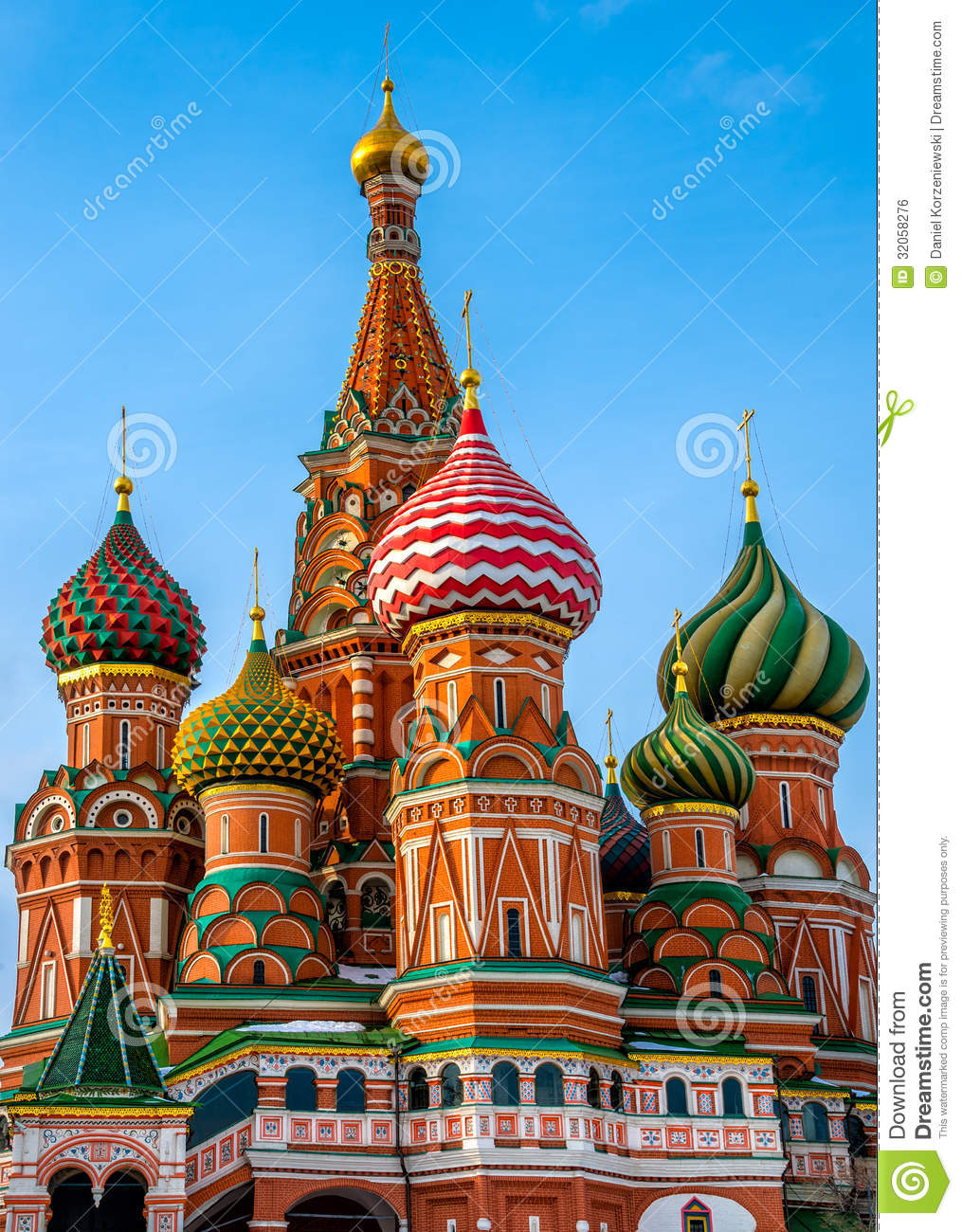 St. Basil Cathedral Domes Royalty Free Stock Image.