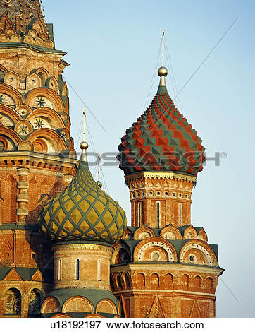 Picture of Saint Basil's Cathedral Onion Domes u18192197.