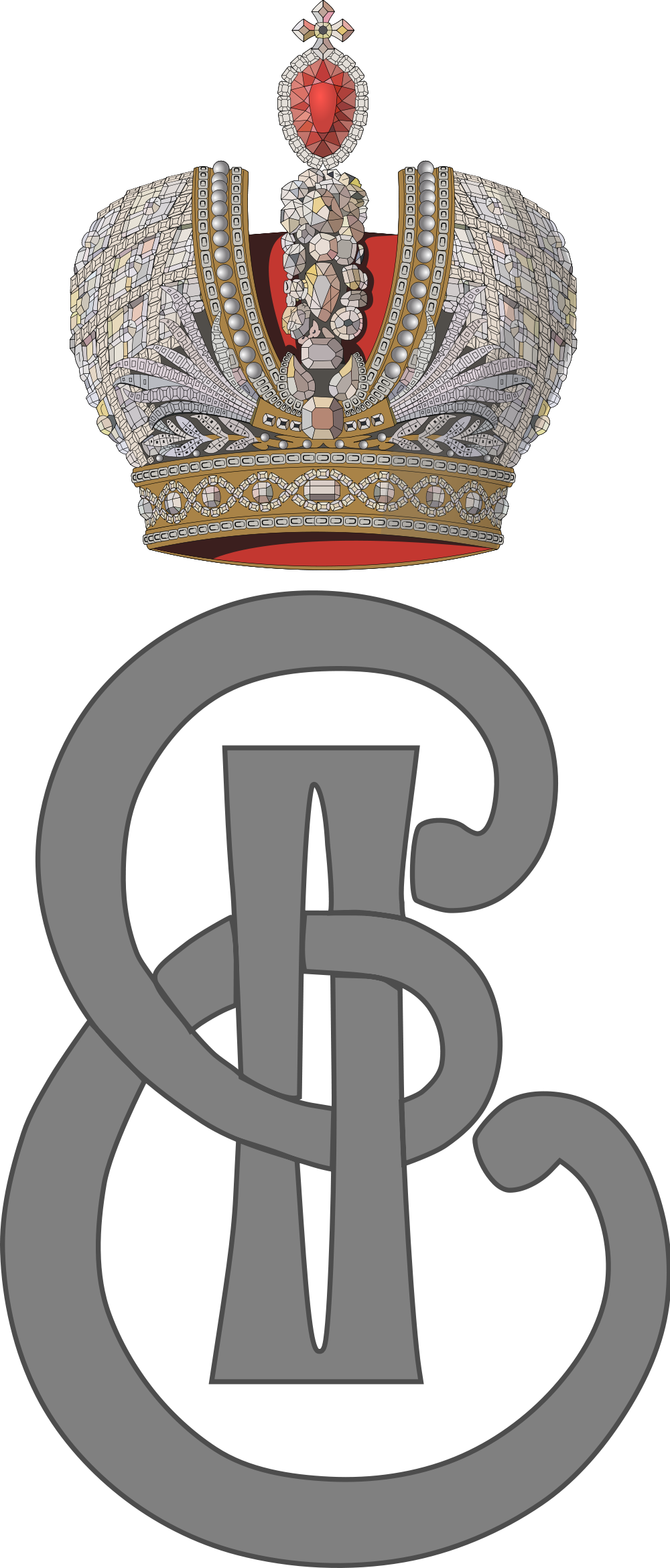File:Imperial Monogram Of Empress Catherine The Great Of Russia.