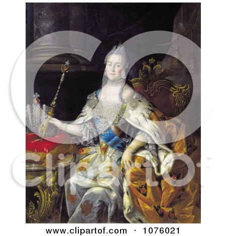 Queen Catherine II of Russia With a Wand, Catherine the Great.