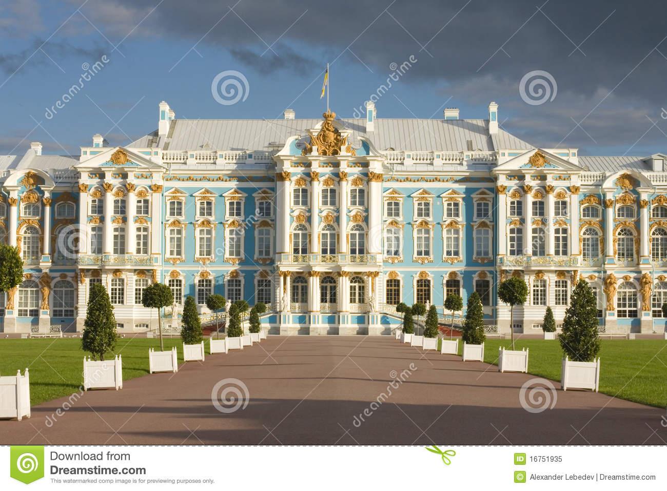 Catherine Palace In Tsarskoe Selo, Russia Royalty Free Stock Photo.