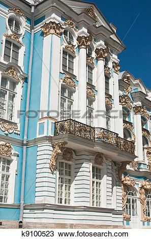 Stock Photo of The Catherine Palace, located in the town of.