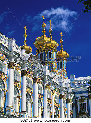 Stock Images of Russia, St. Petersburg, Catherine's Palace. 3624ct.