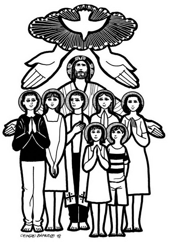 Catholic Saints and All Saint's Day Coloring Pages.