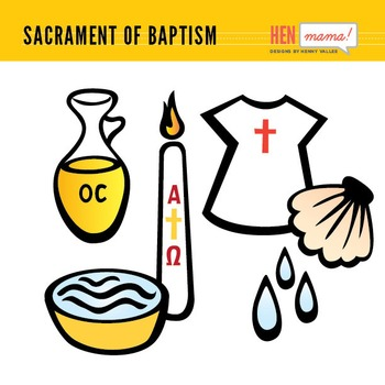 Sacrament of Baptism Clip Arts.