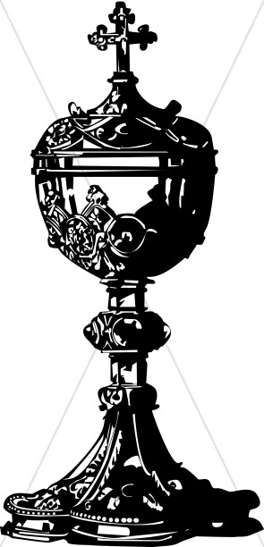 Black Roman Catholic Covered Chalice.