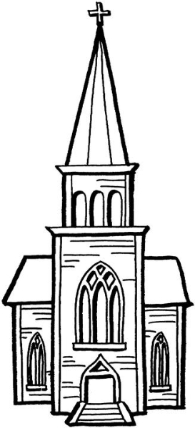 Free Church Clipart Black And White, Download Free Clip Art.