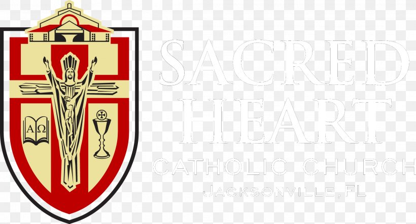 Sacred Heart Catholic Church Logo Christian Ministry Poster.