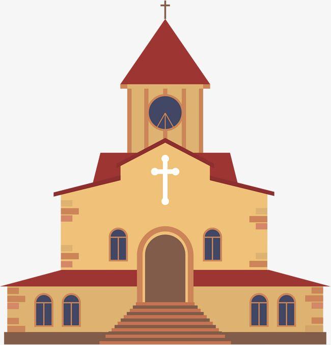 Coffee Cartoon Church, Cartoon Clipart, Church Clipart, Coffee PNG.