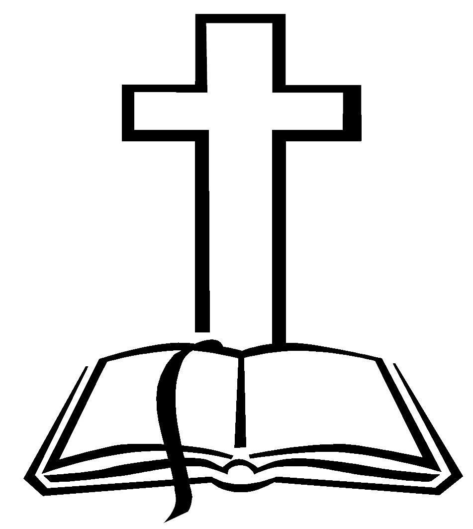 Unique cross black and white catholic clipart images.