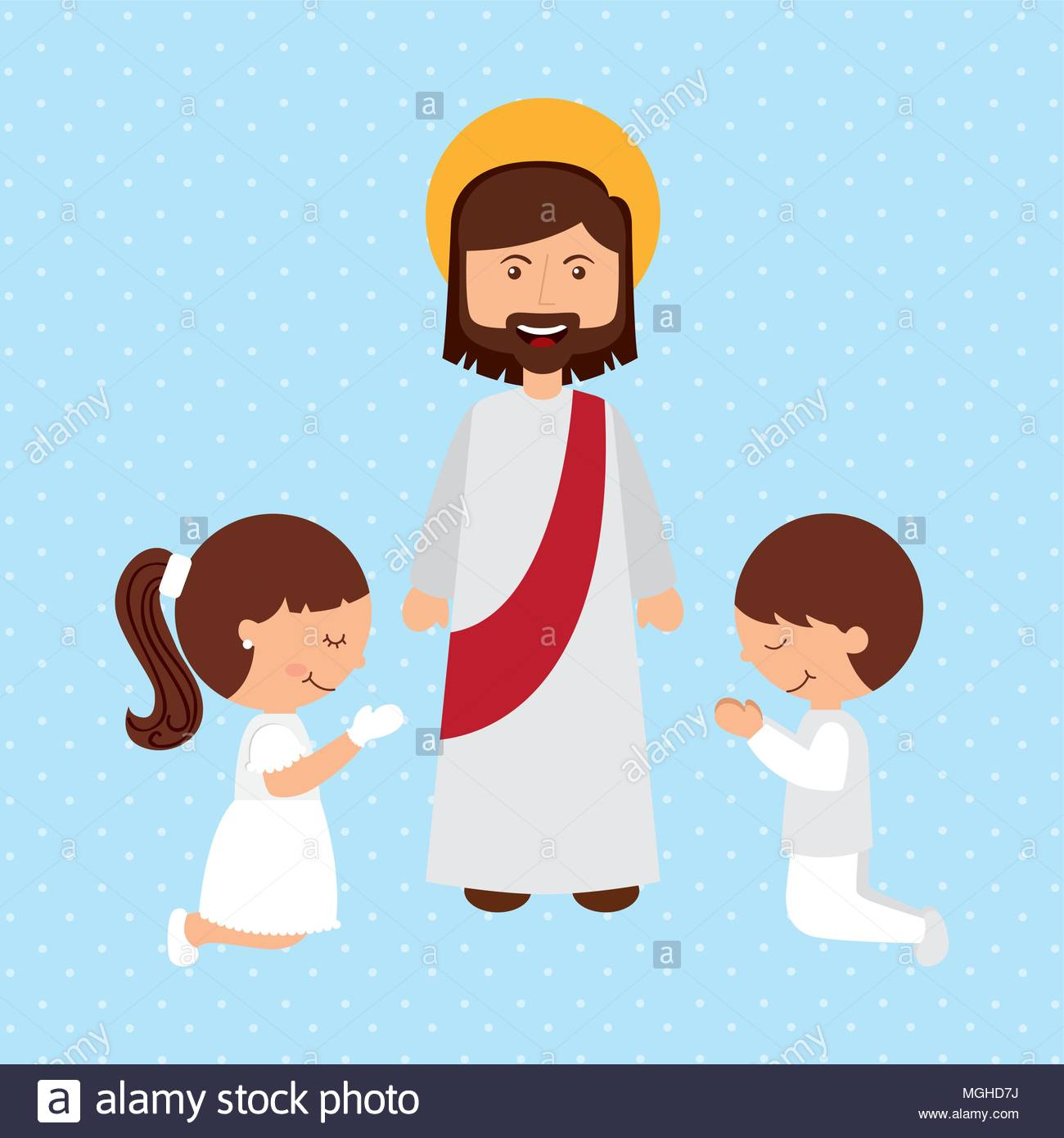 Catholic religion design, vector illustration eps10 graphic Stock.