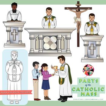 Parts of the Catholic Mass Clip Art Set.