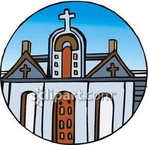Crosses on a Catholic Church.