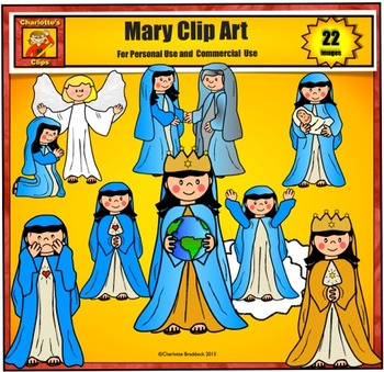 Mary Clip art by Charlotte\'s Clips.
