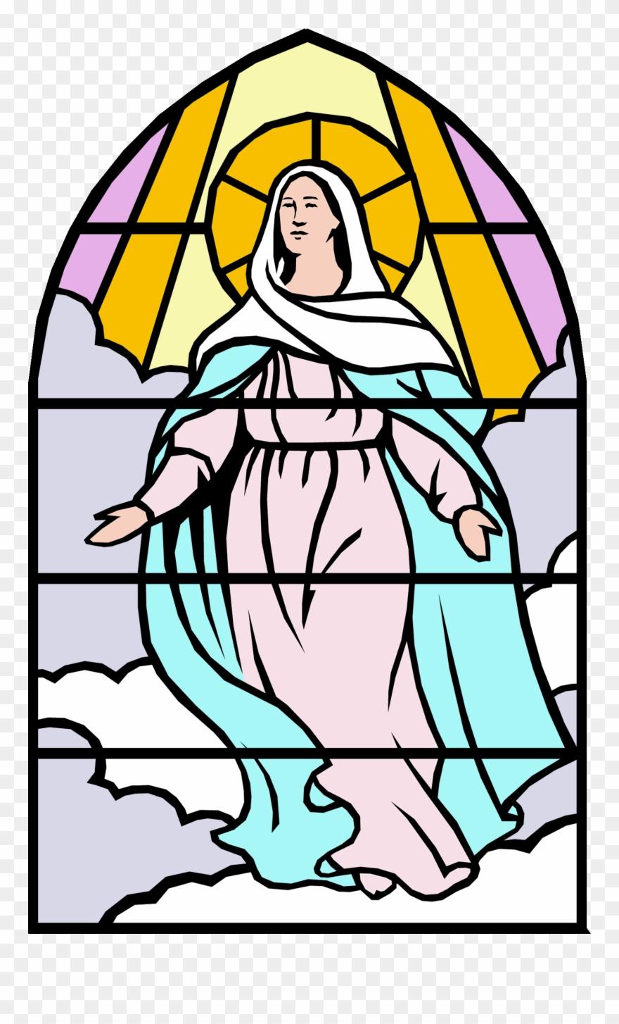 Clip Art Of Mary Catholic Clipart.