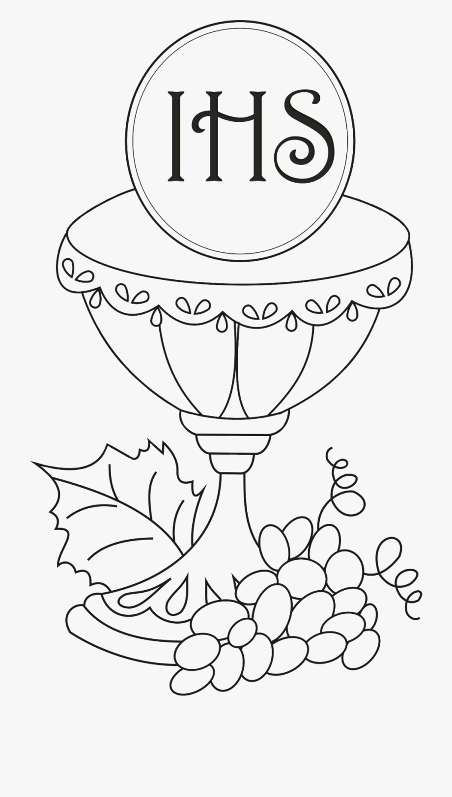 Catholic Drawing Communion Cup.